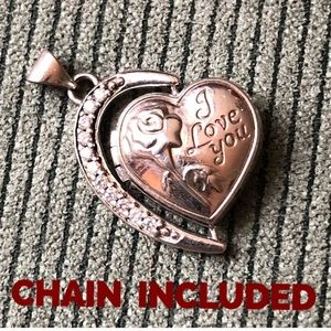 Unique Sterling Silver Heart Locket Vintage Chain